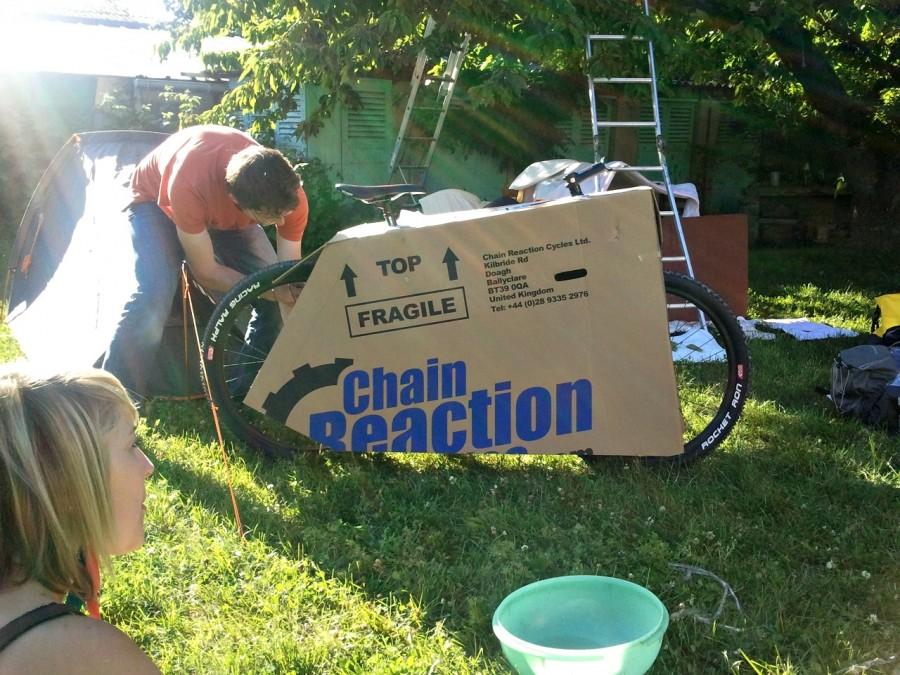 emballage du vélo